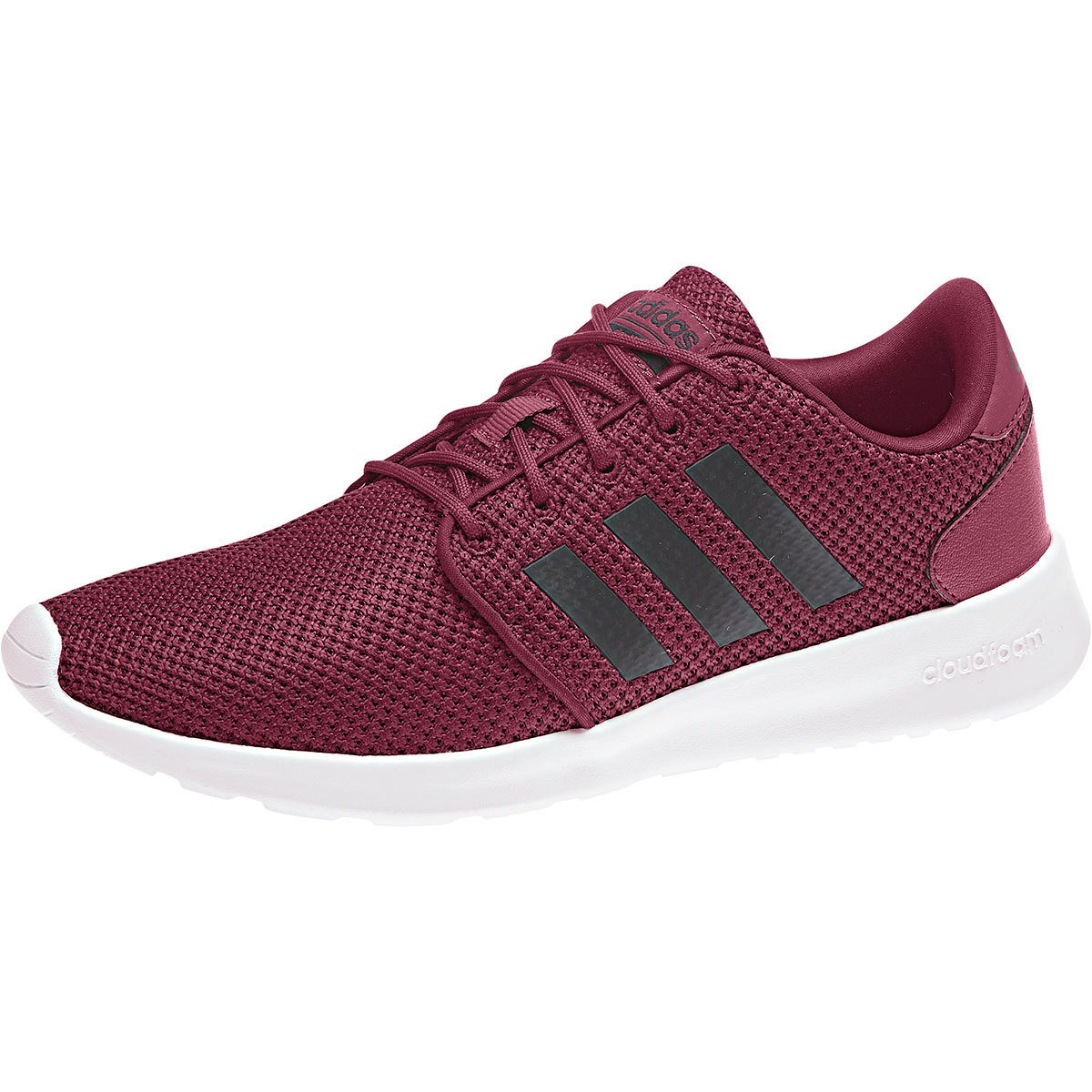 Adidas Women's Cloudfoam Qt Racer Running Shoes - Red, 7.5
