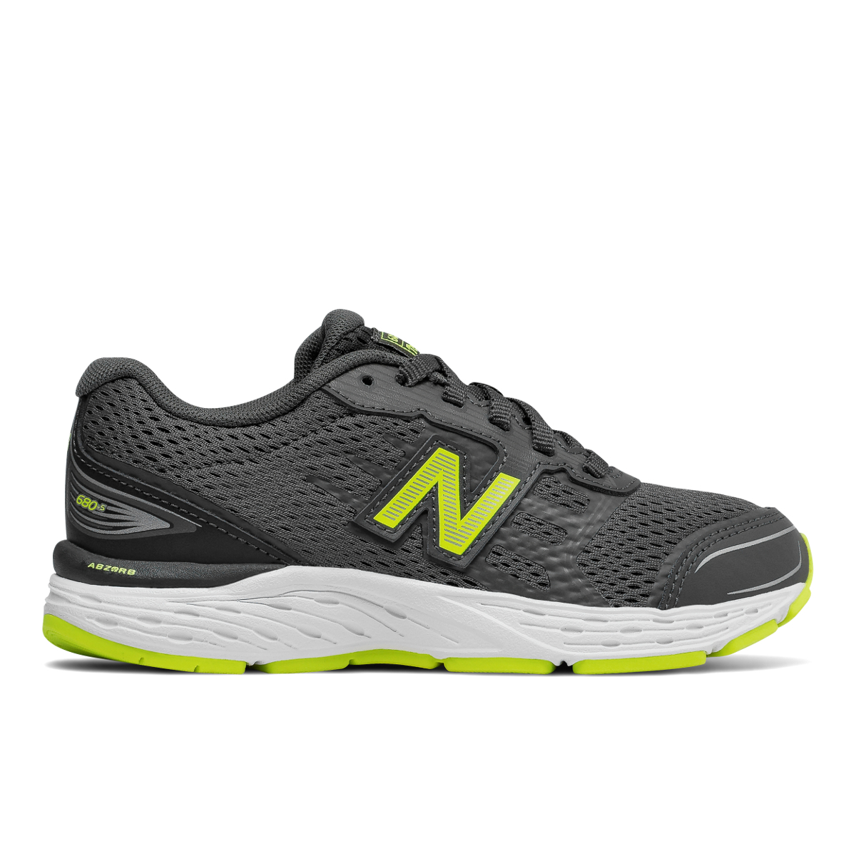 New Balance Boy's 680V5 Wide Running Shoes - Black, 5.5