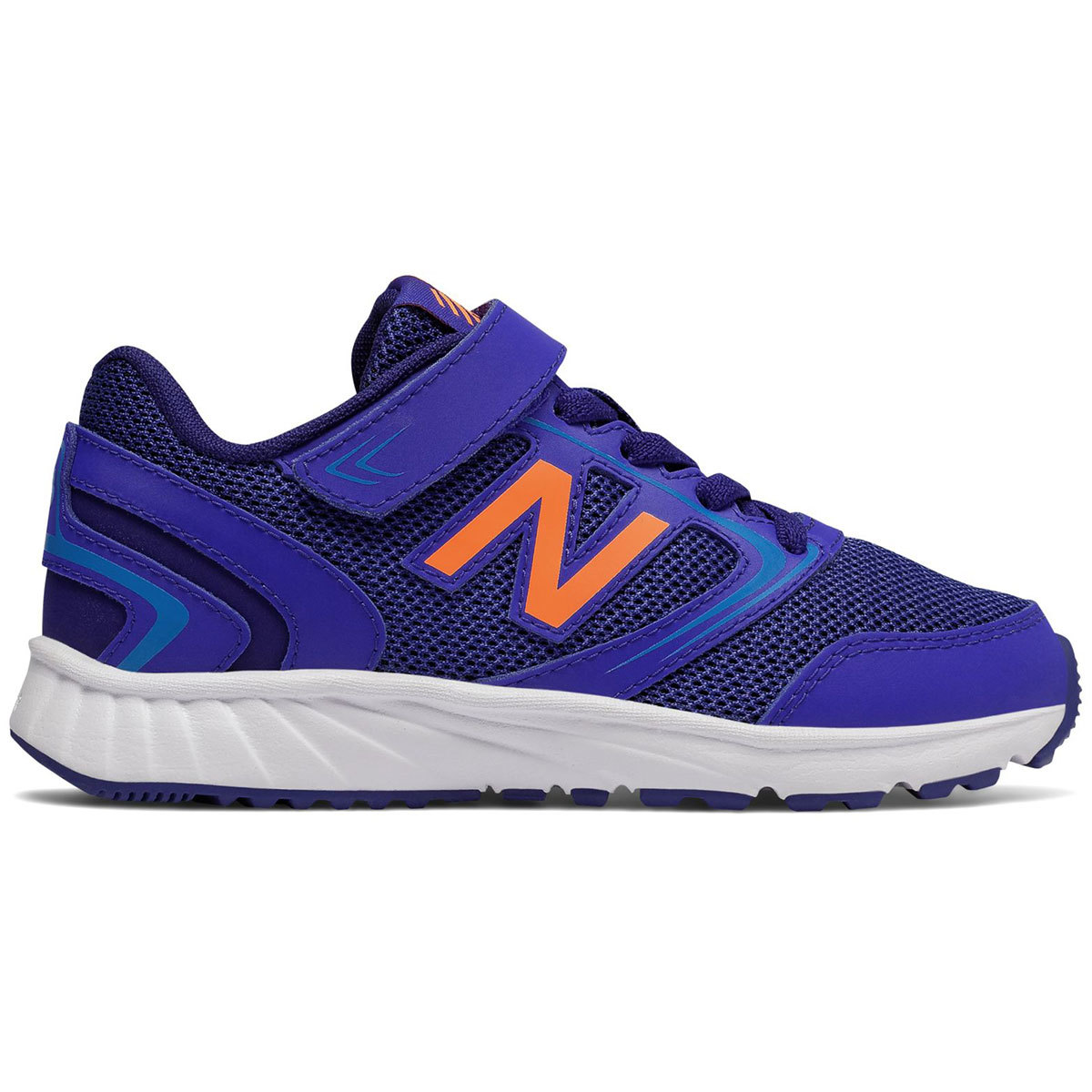 New Balance Boys' 455V1 Running Shoes, Wide - Blue, 3