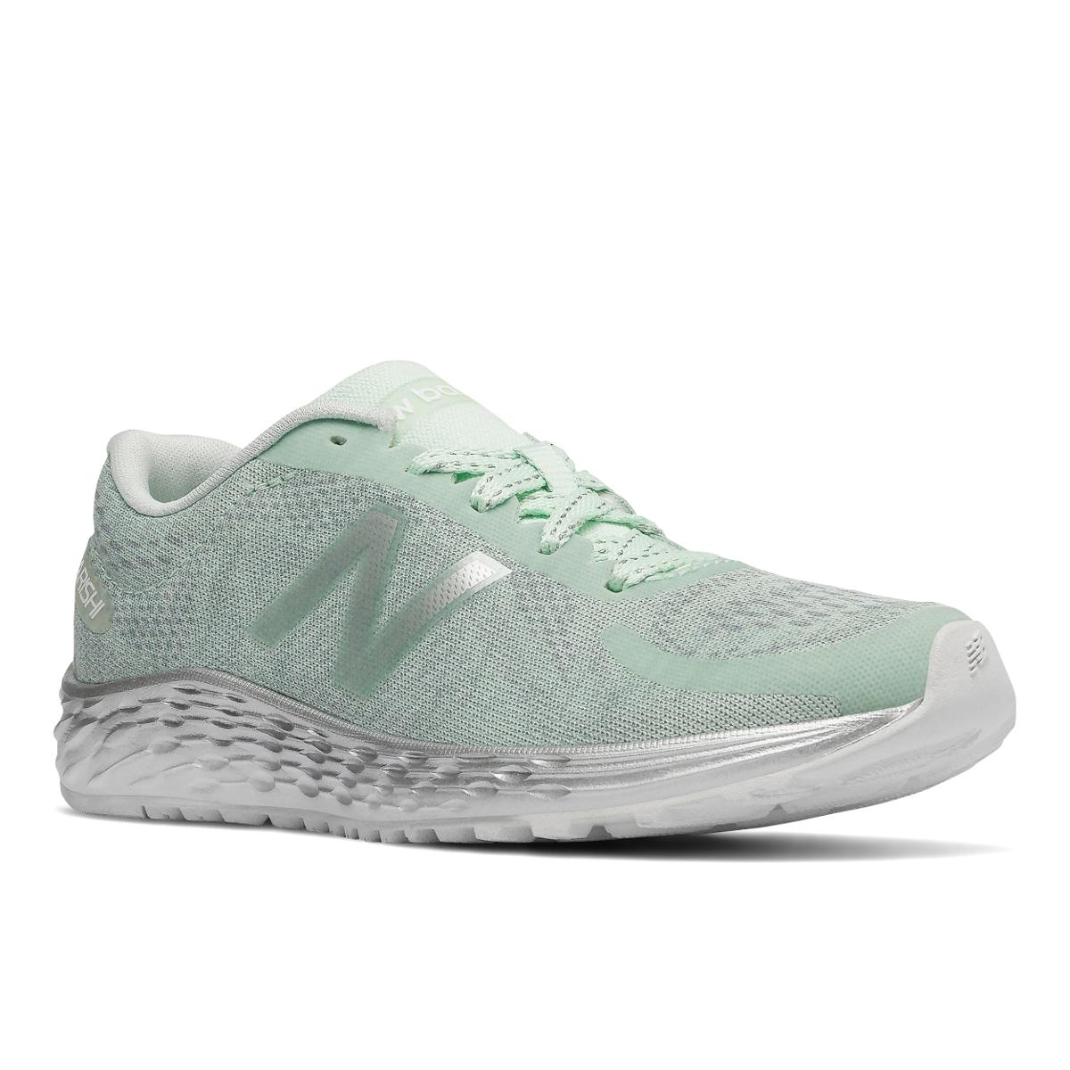 New Balance Big Girls' Grade School Fresh Foam Arishi Running Shoes - Green, 5.5