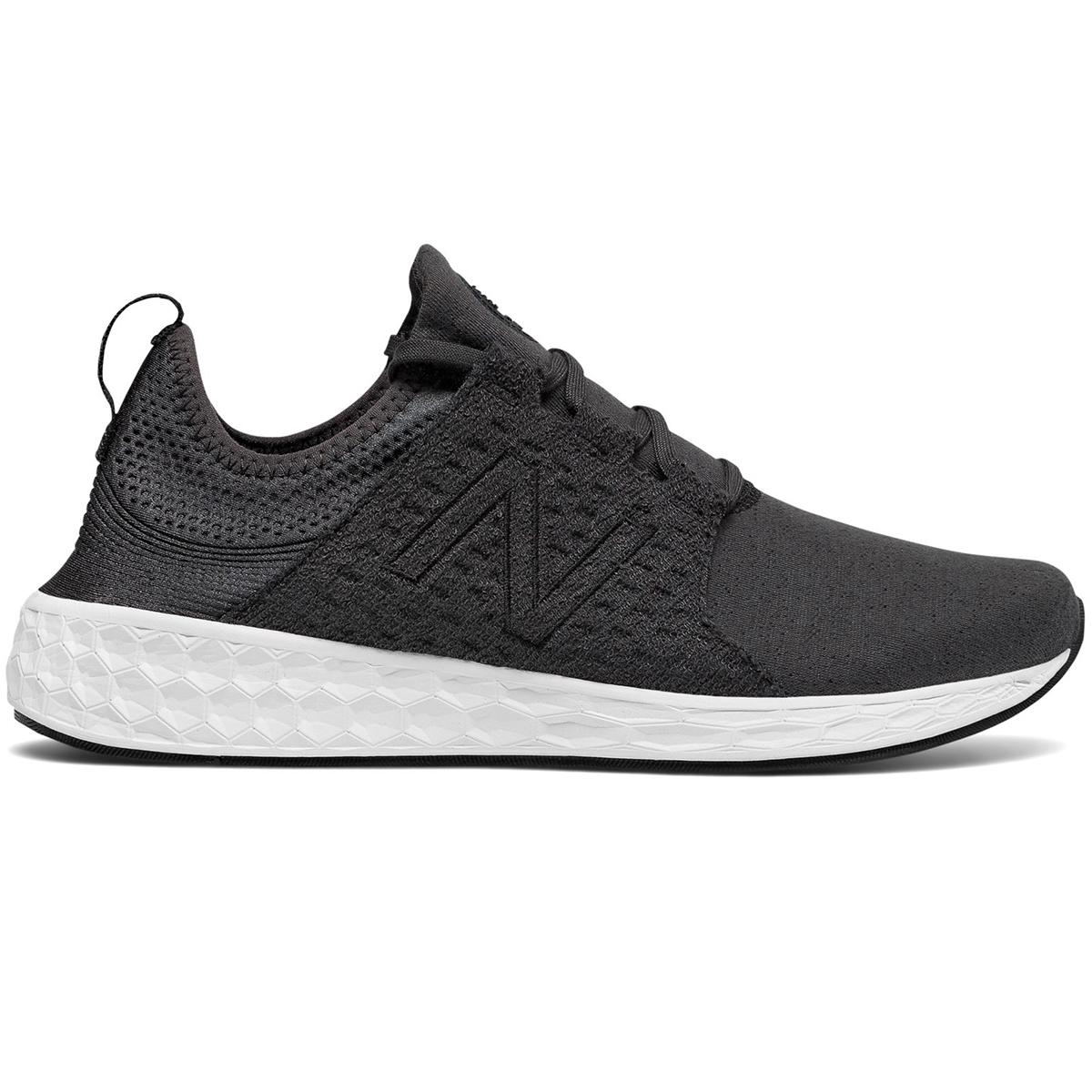 New Balance Men's Fresh Foam Cruz Retro Hoodie Running Shoes - Black, 8