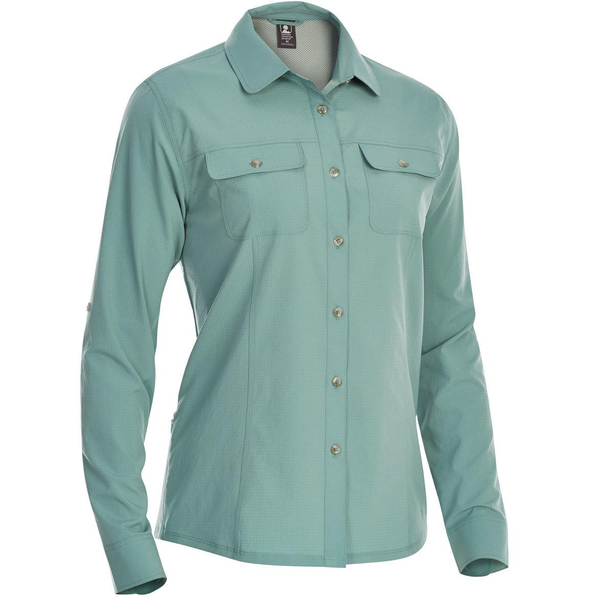 Ems Women's Techwick Traverse Upf Long-Sleeve Shirt - Blue, L