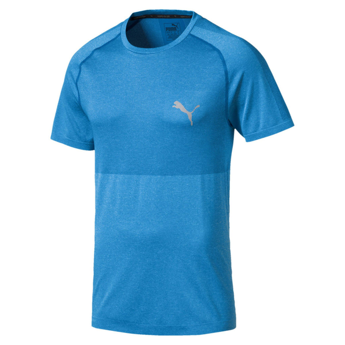 Puma Men's Evoknit Basic Tee - Blue, L