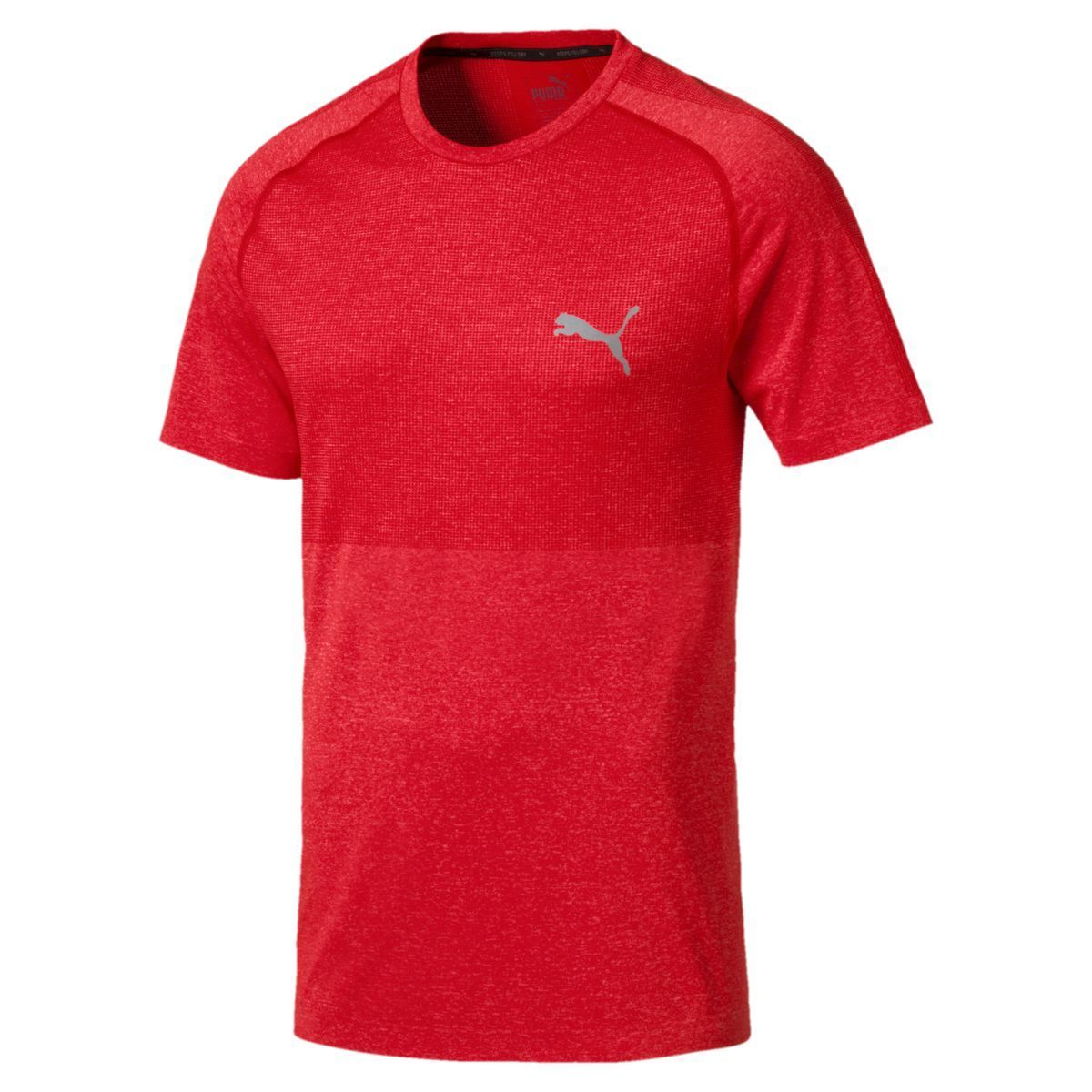 Puma Men's Evoknit Basic Tee - Red, S
