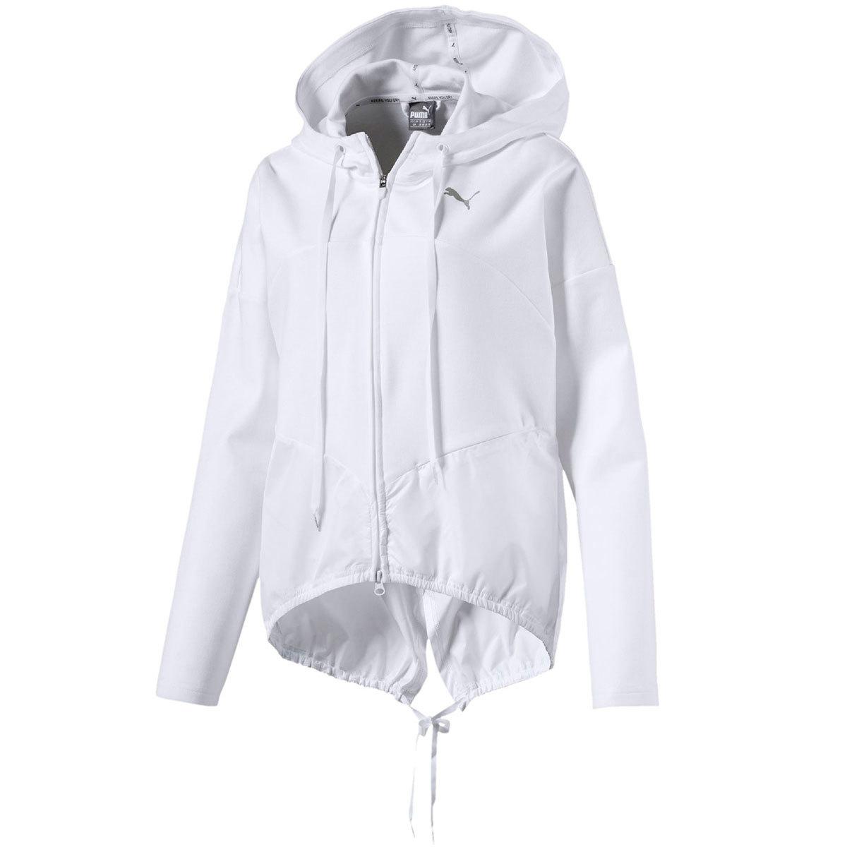 Puma Women's Transition Full-Zip Hoodie - White, L