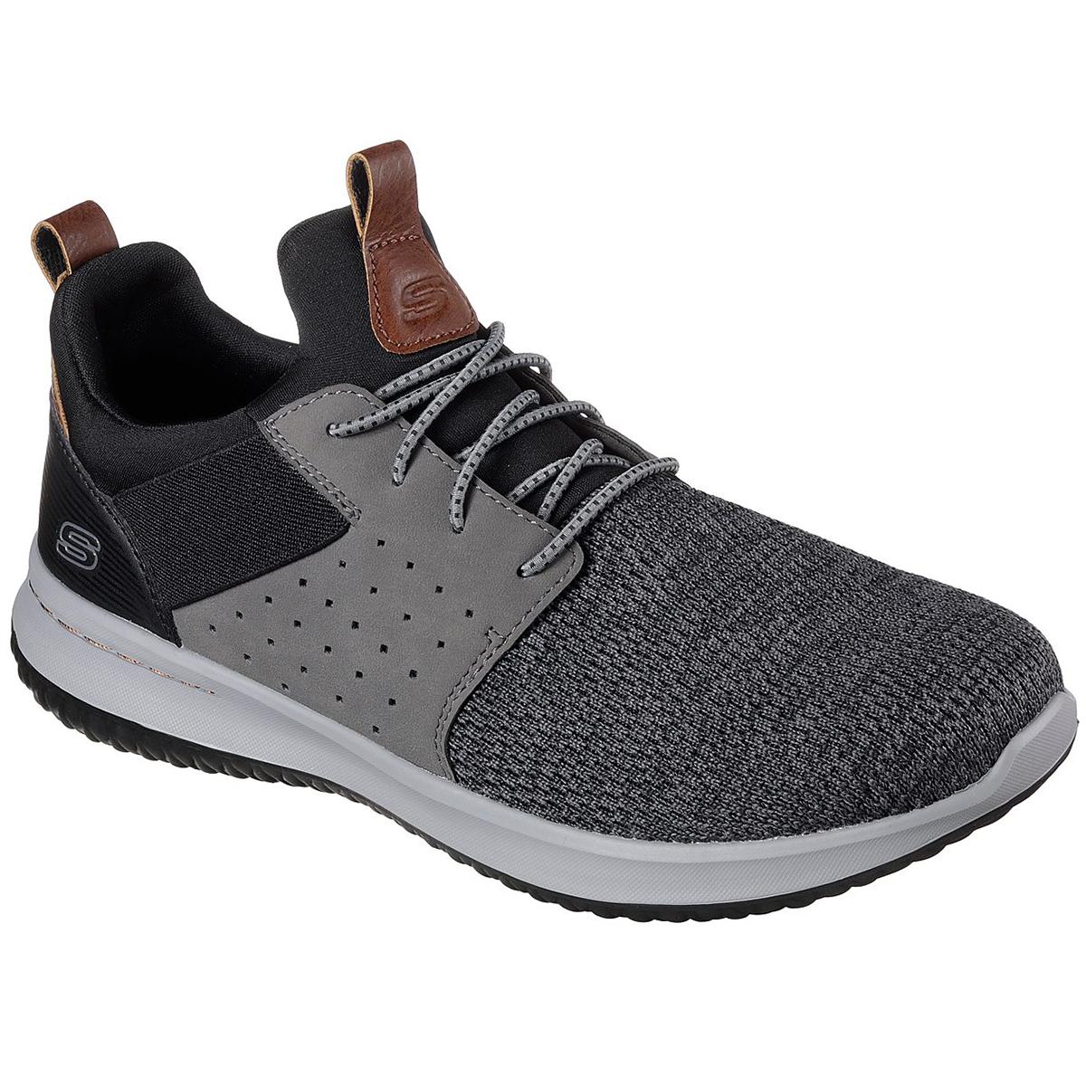 Skechers Men's Delson - Camben Sneakers - Black, 8