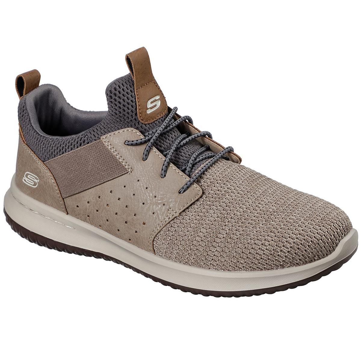 Skechers Men's Delson - Camben Sneakers - Brown, 9