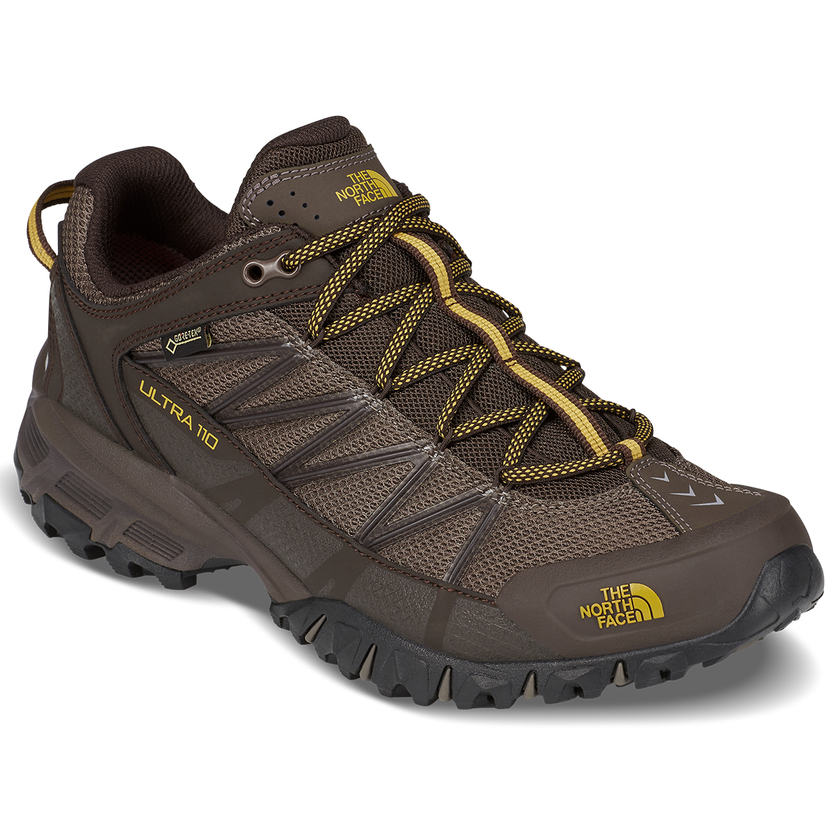 The North Face Men's Ultra 110 Gtx Waterproof Trail Running Shoes - Brown, 9