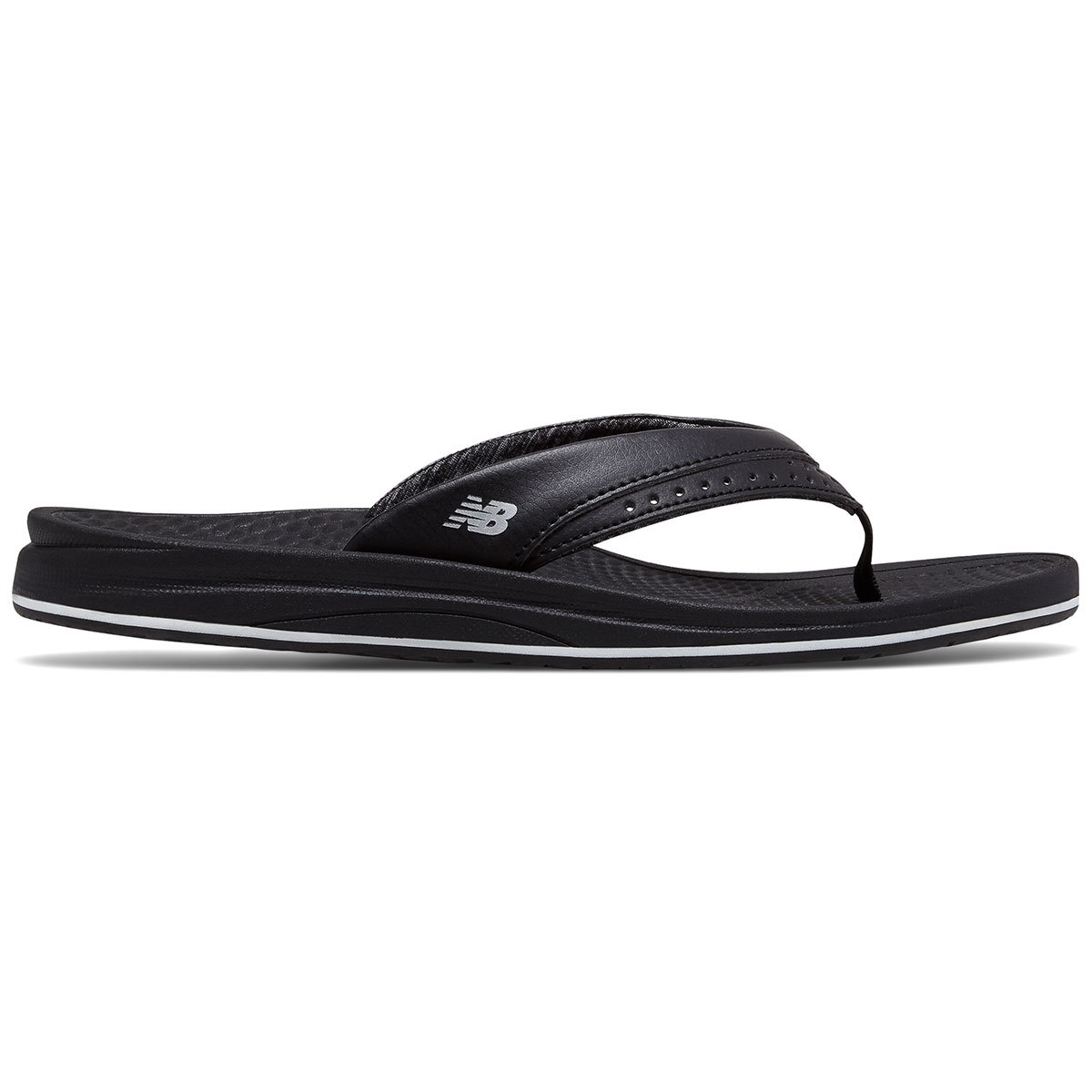 New Balance Women's Renew Thong Sandals - Black, 11