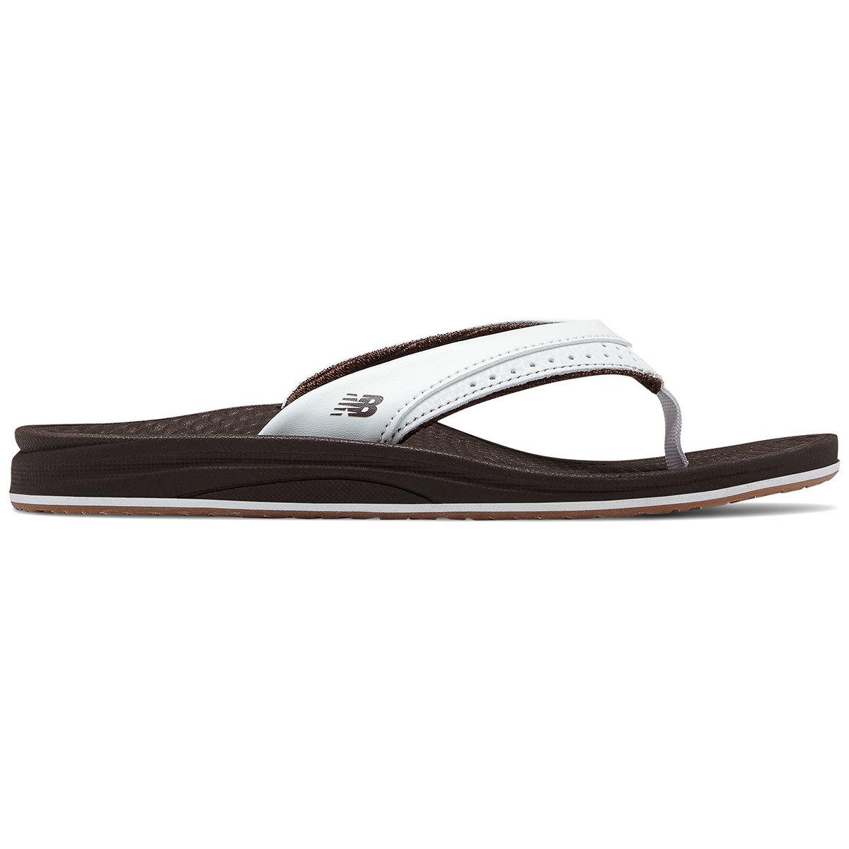 New Balance Women's Renew Thong Sandals - Brown, 9
