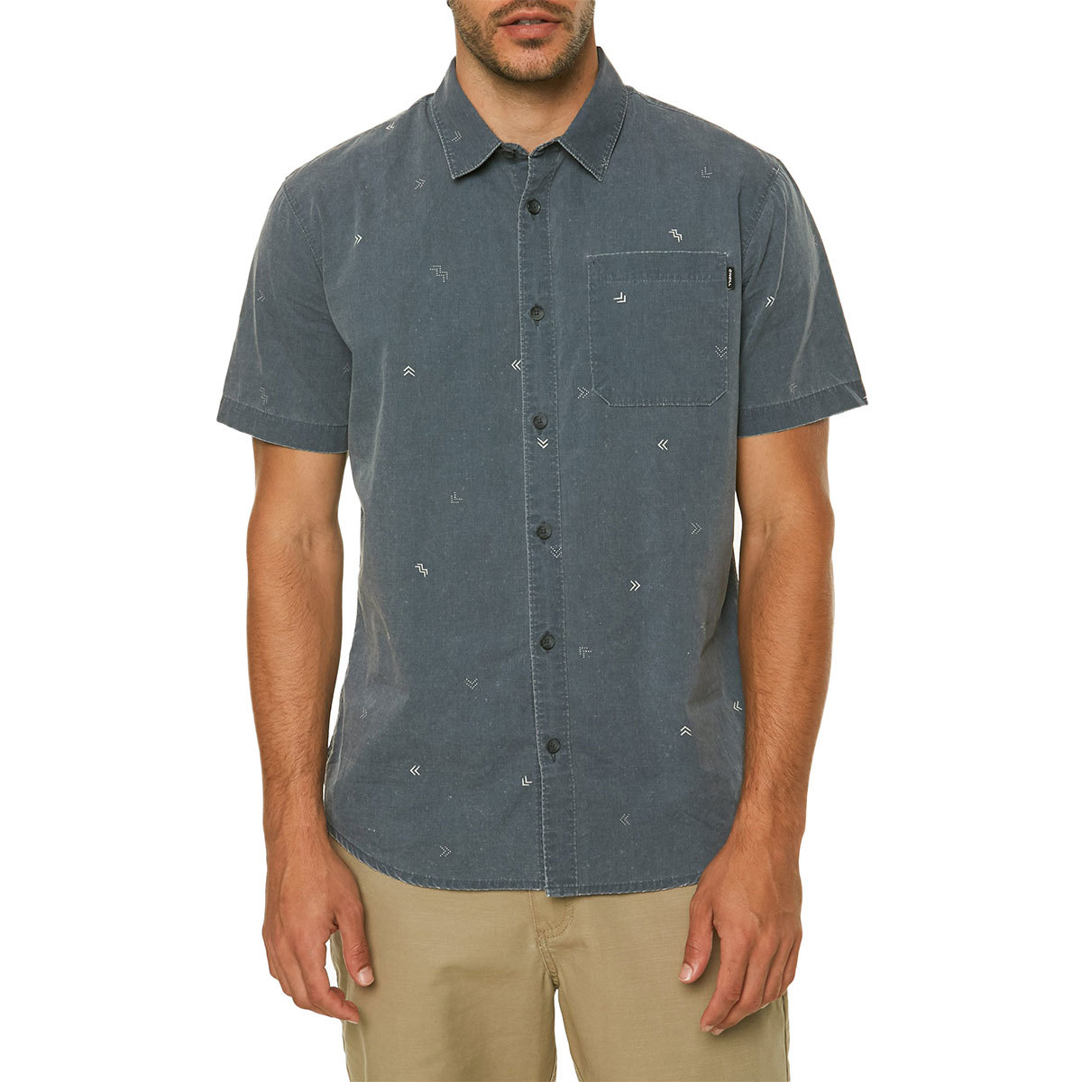 O'neill Guys' Kruger Short-Sleeve Shirt - Blue, M