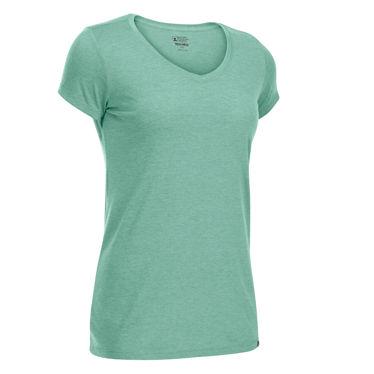 Ems Women's Techwick Vital V-Neck Short-Sleeve Tee - Green, S