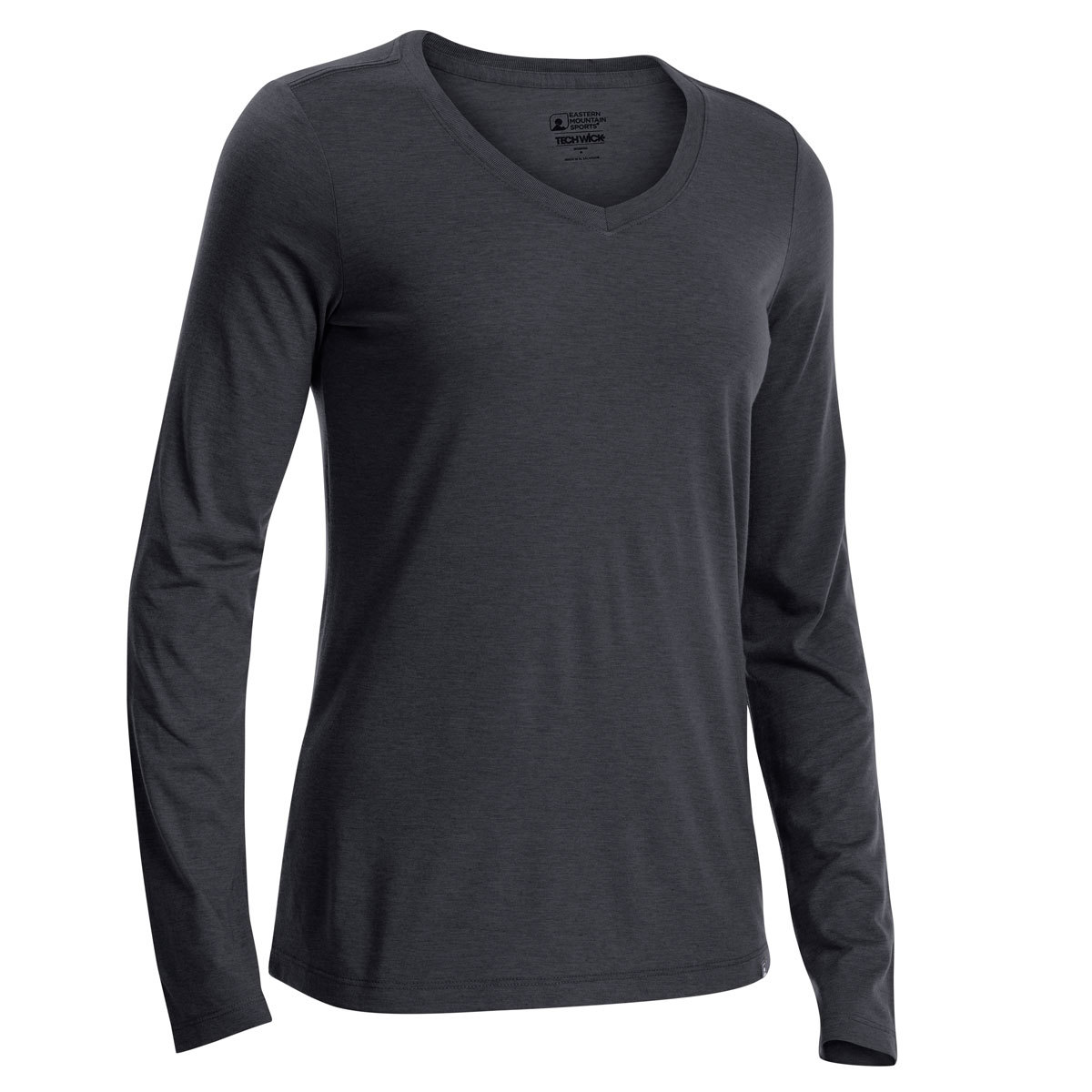Ems Women's Techwick Vital V-Neck Long-Sleeve Tee - Black, XL