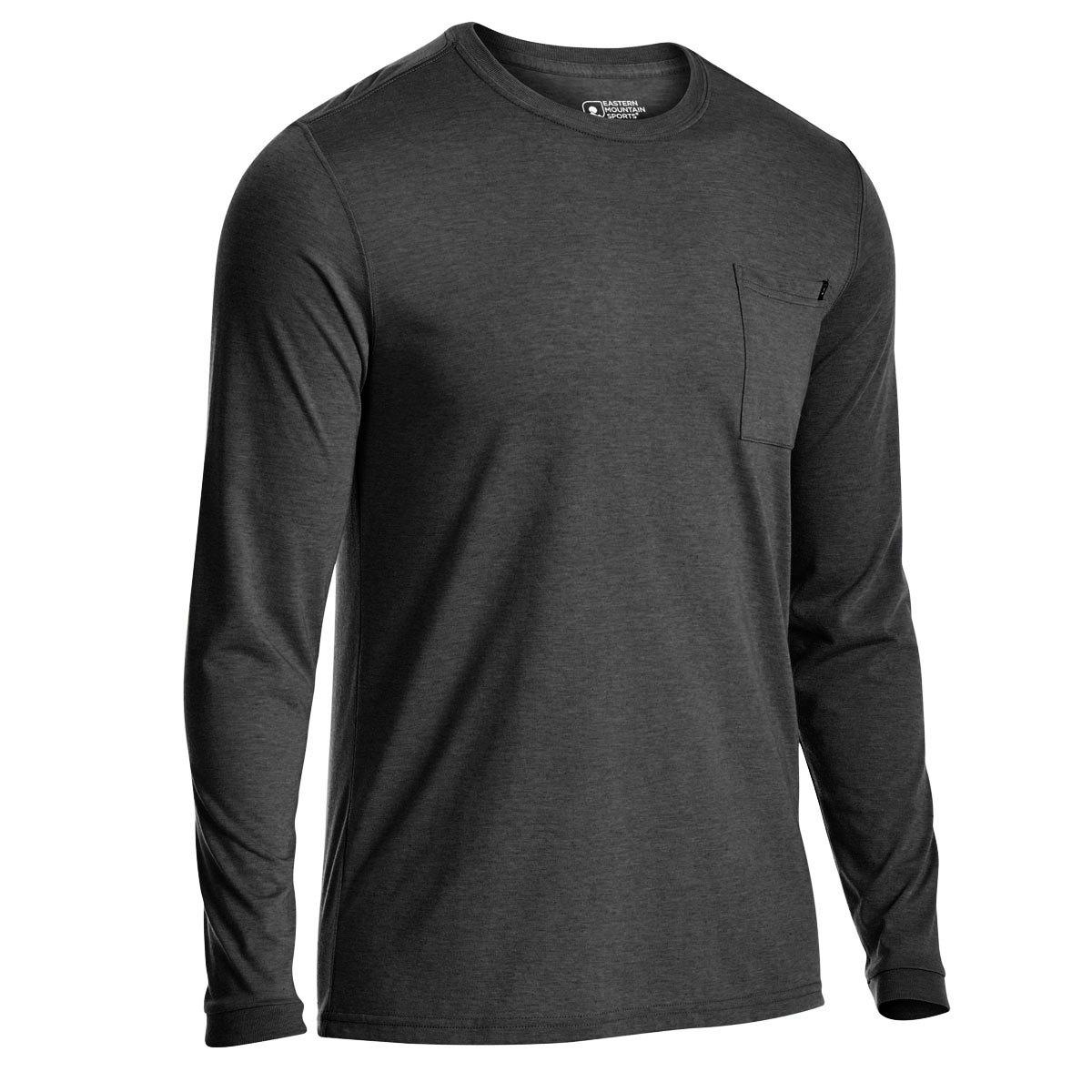 Ems Men's Techwick Vital Pocket Long-Sleeve Tee - Black, M