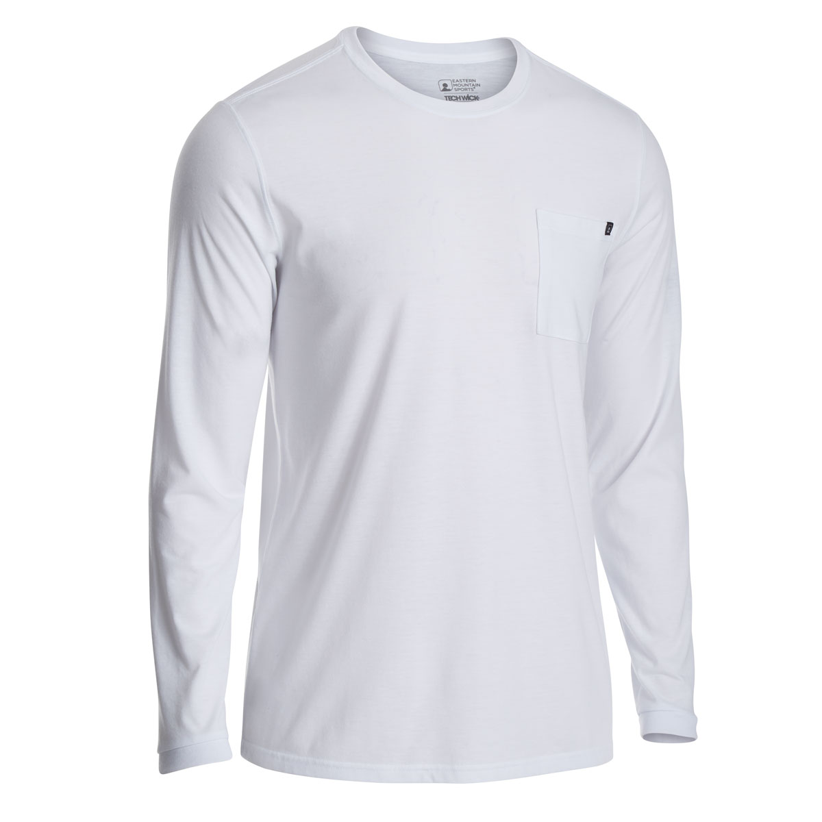 Ems Men's Techwick Vital Pocket Long-Sleeve Tee - White, M