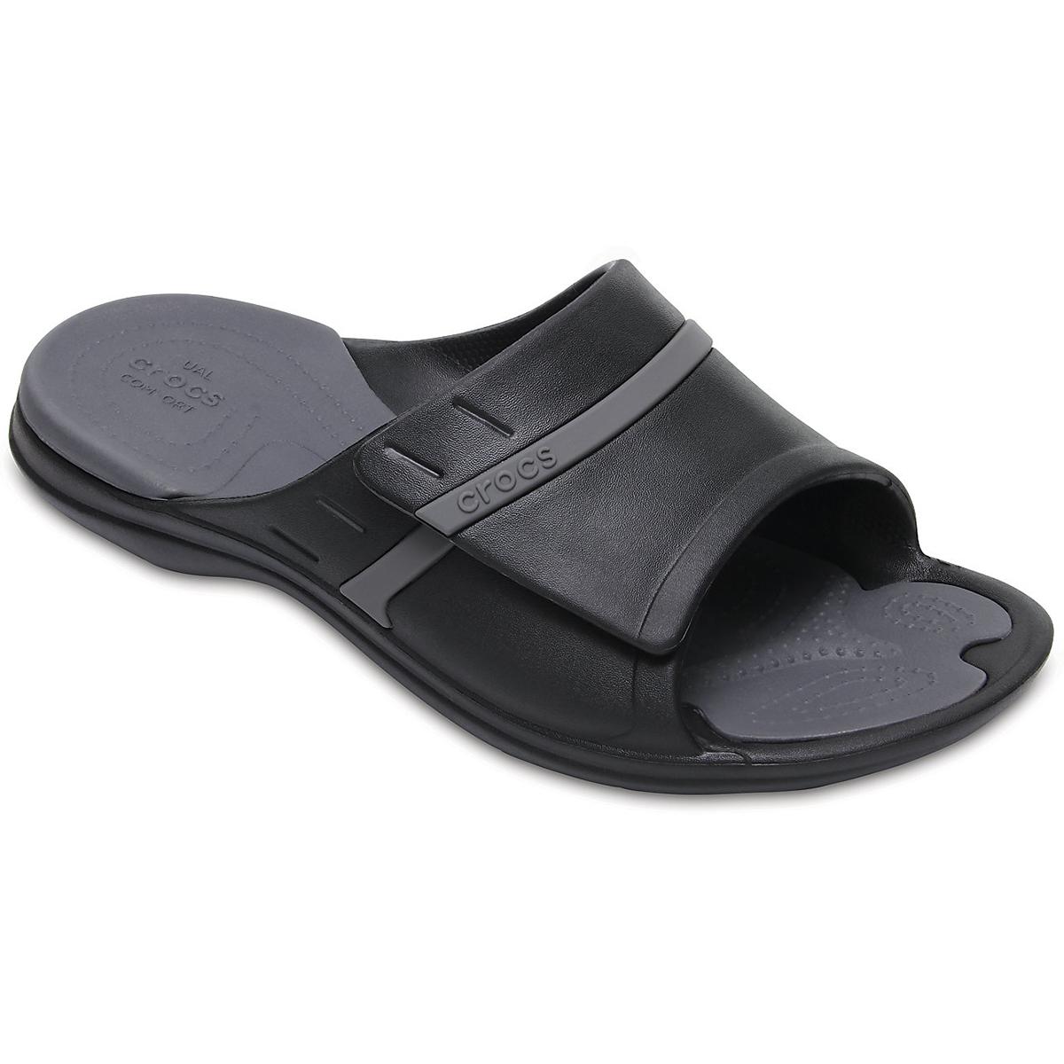 Crocs Unisex Modi Sport Slides - Black, 10