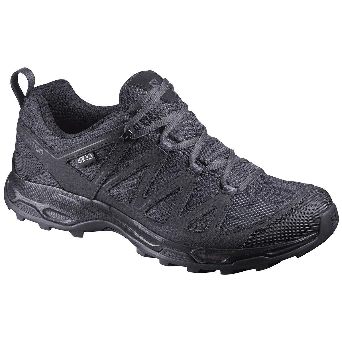 Salomon Men's Pathfinder Low Climashield Waterproof Hiking Shoes - Black, 10.5