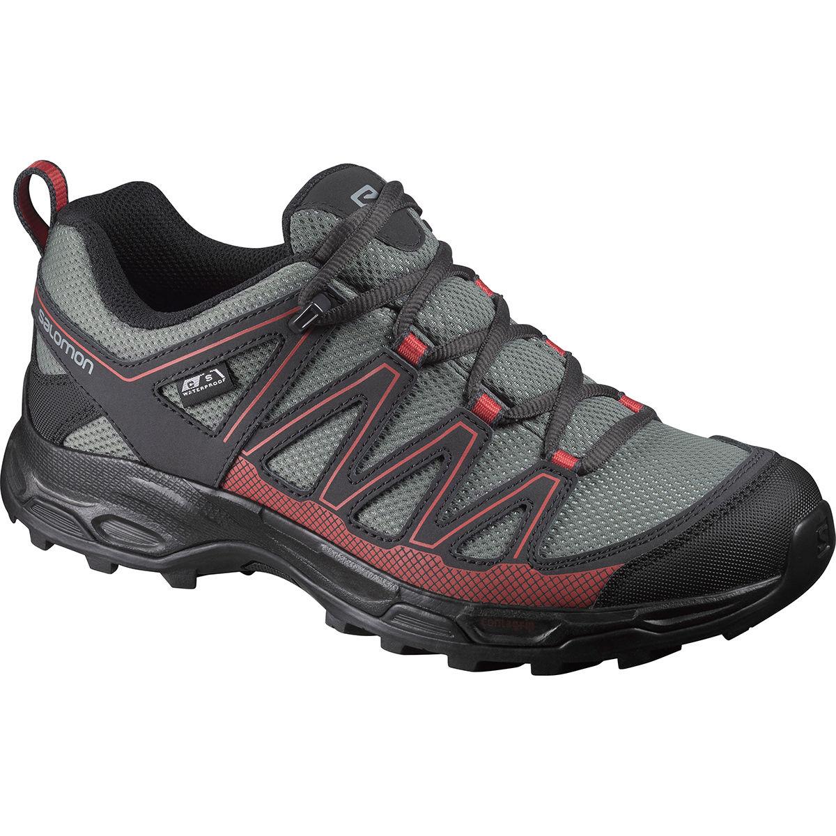 Salomon Women's Pathfinder Low Climashield Waterproof Hiking Shoes - Black, 7