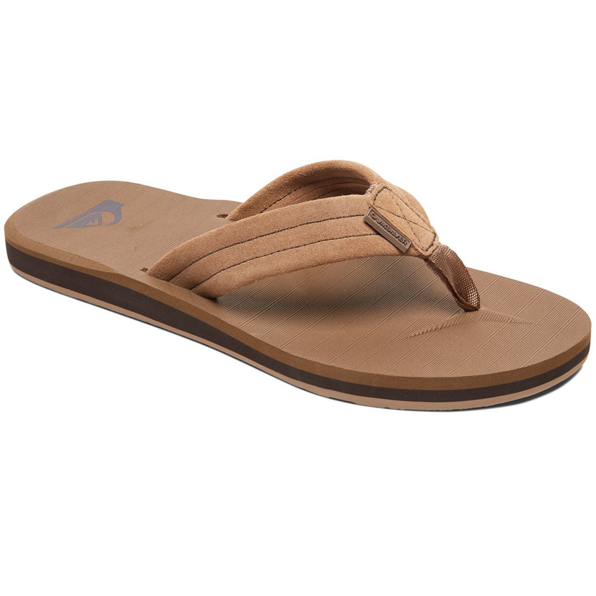 Quiksilver Boys' Carver Flip Flop Sandals - Brown, 5