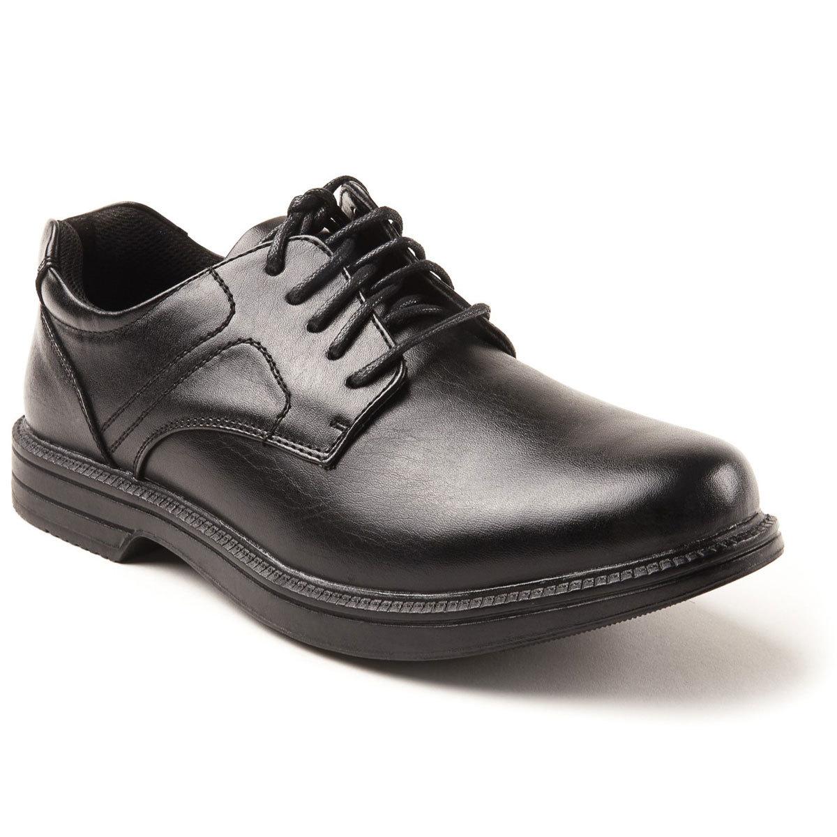 Deer Stags Men's Nu Times Waterproof Service Shoes - Black, 7W