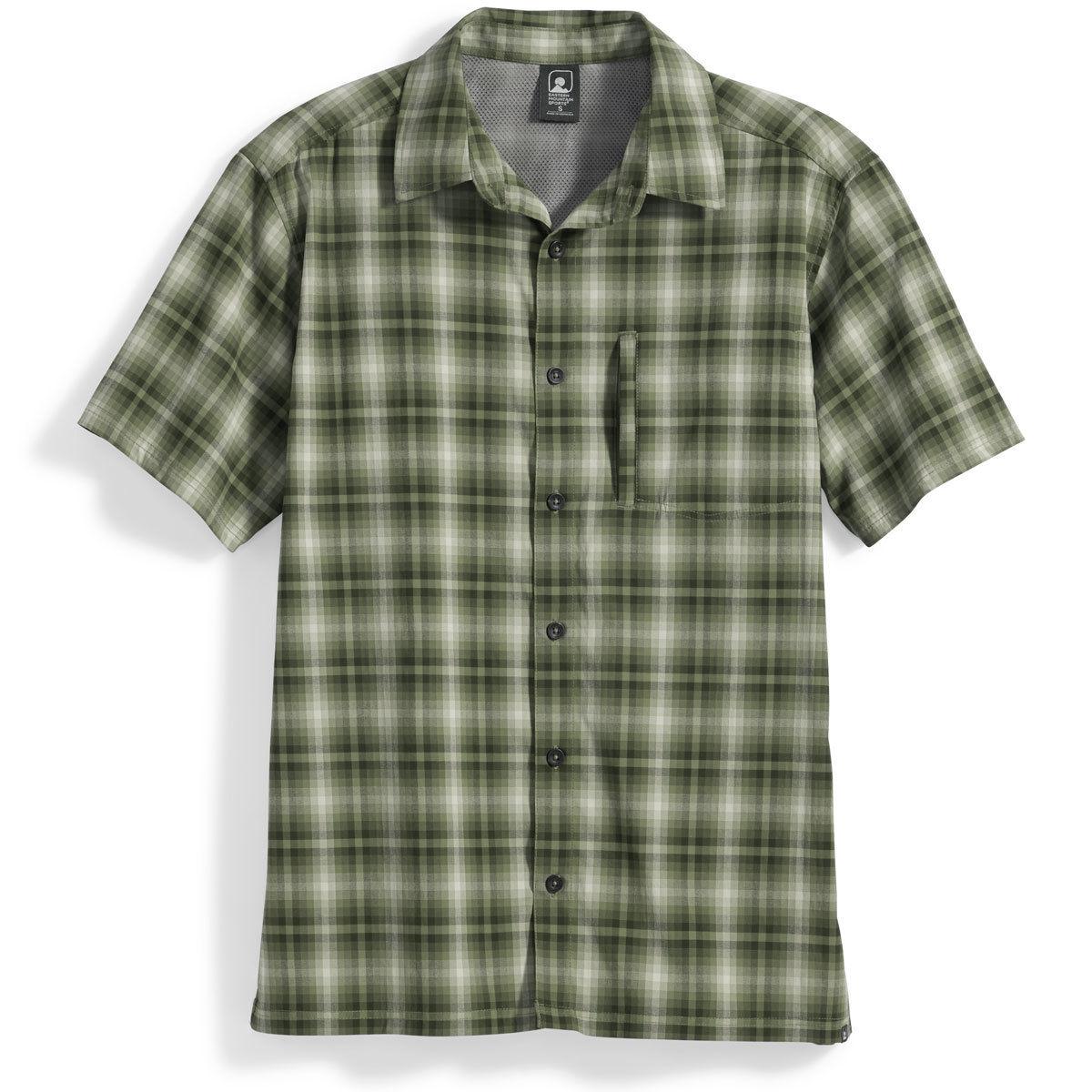 Ems Men's Journey Plaid Short-Sleeve Shirt - Green, M
