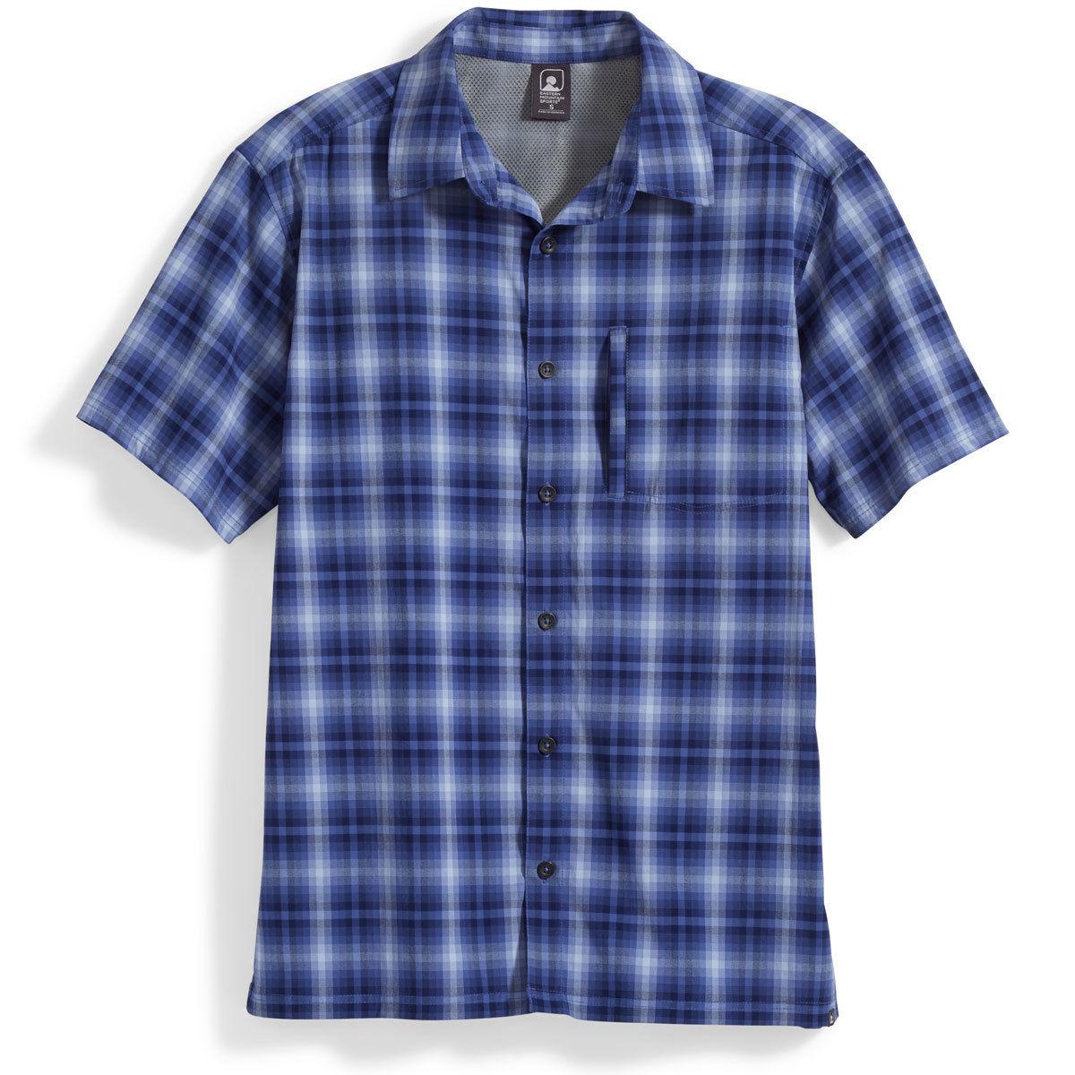 Ems Men's Journey Plaid Short-Sleeve Shirt - Blue, L