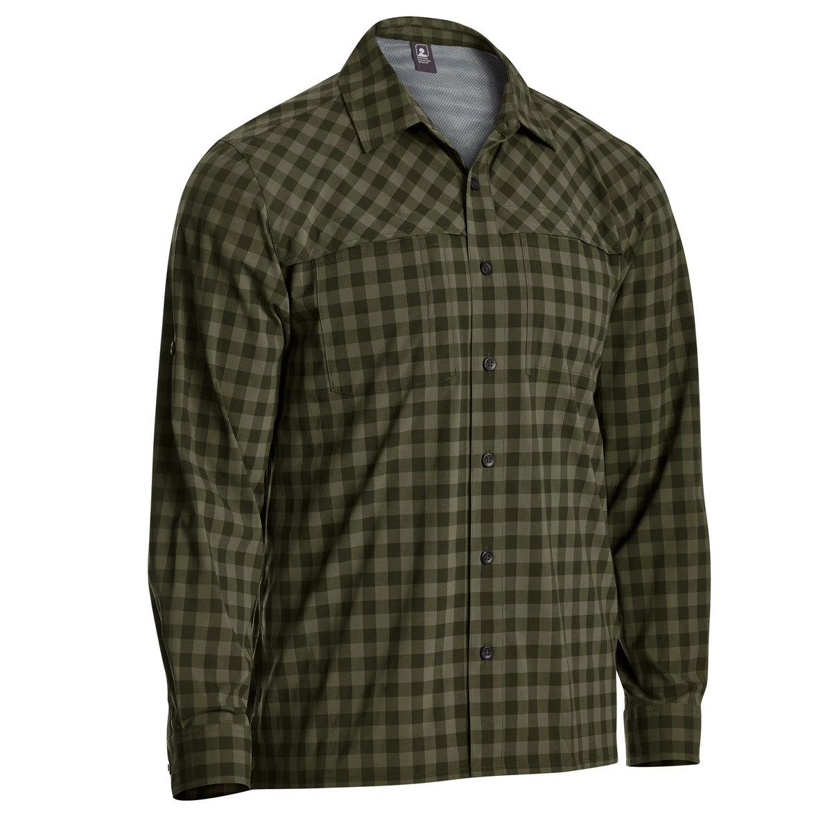 Ems Men's Journey Plaid Long-Sleeve Shirt - Green, S