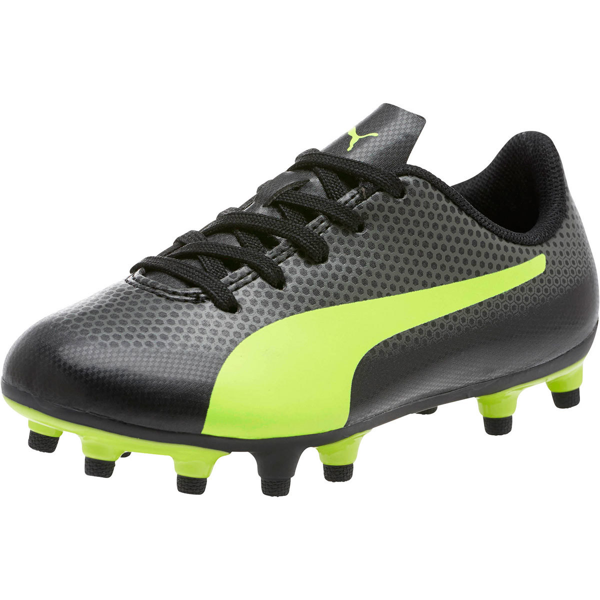 Puma Kids' Spirit Fg Jr. Soccer Cleats - Black, 4.5