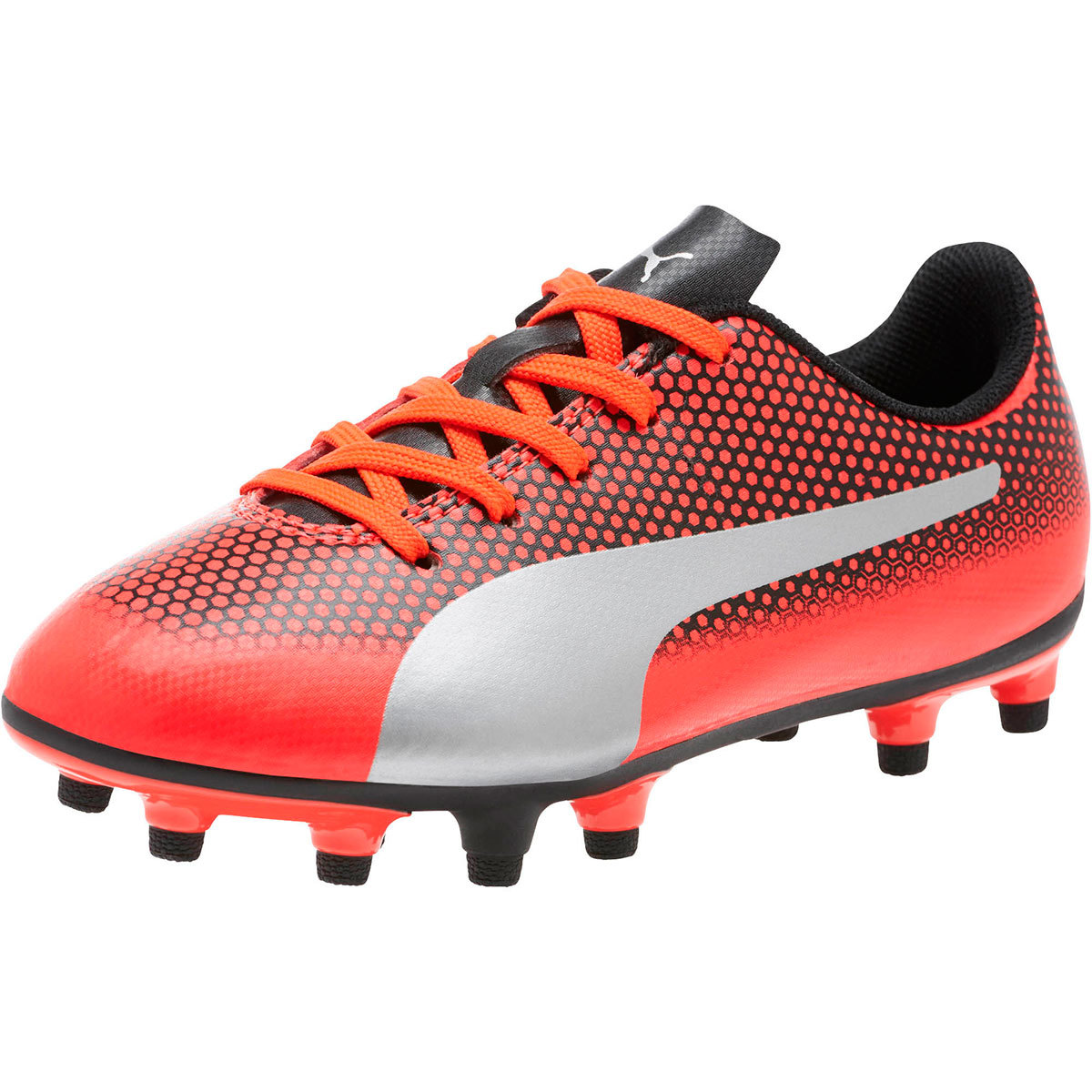 Puma Kids' Spirit Fg Jr Soccer Cleats - Red, 5.5