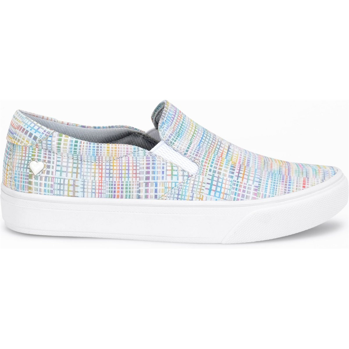 Nurse Mates Women's Align Faxon Slip-On Shoes, Rainbow Sherbet - Black, 10