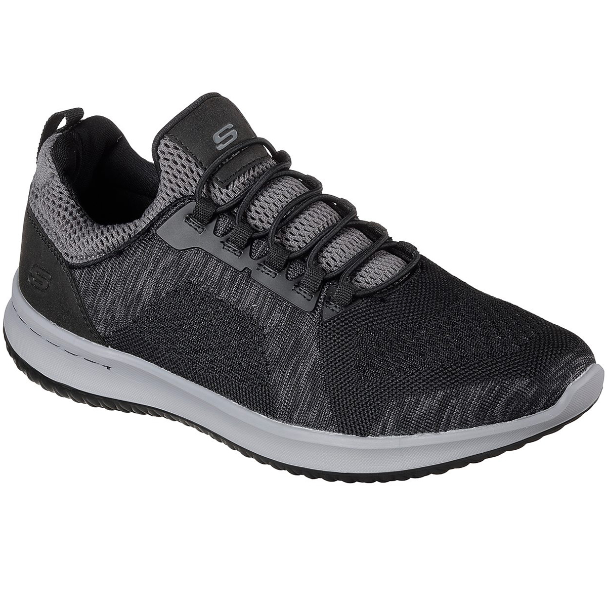 Skechers Men's Delson  -  Brewton Sneakers - Black, 9