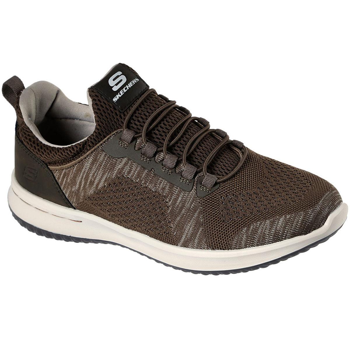 Skechers Men's Delson  -  Brewton Sneakers - Brown, 9