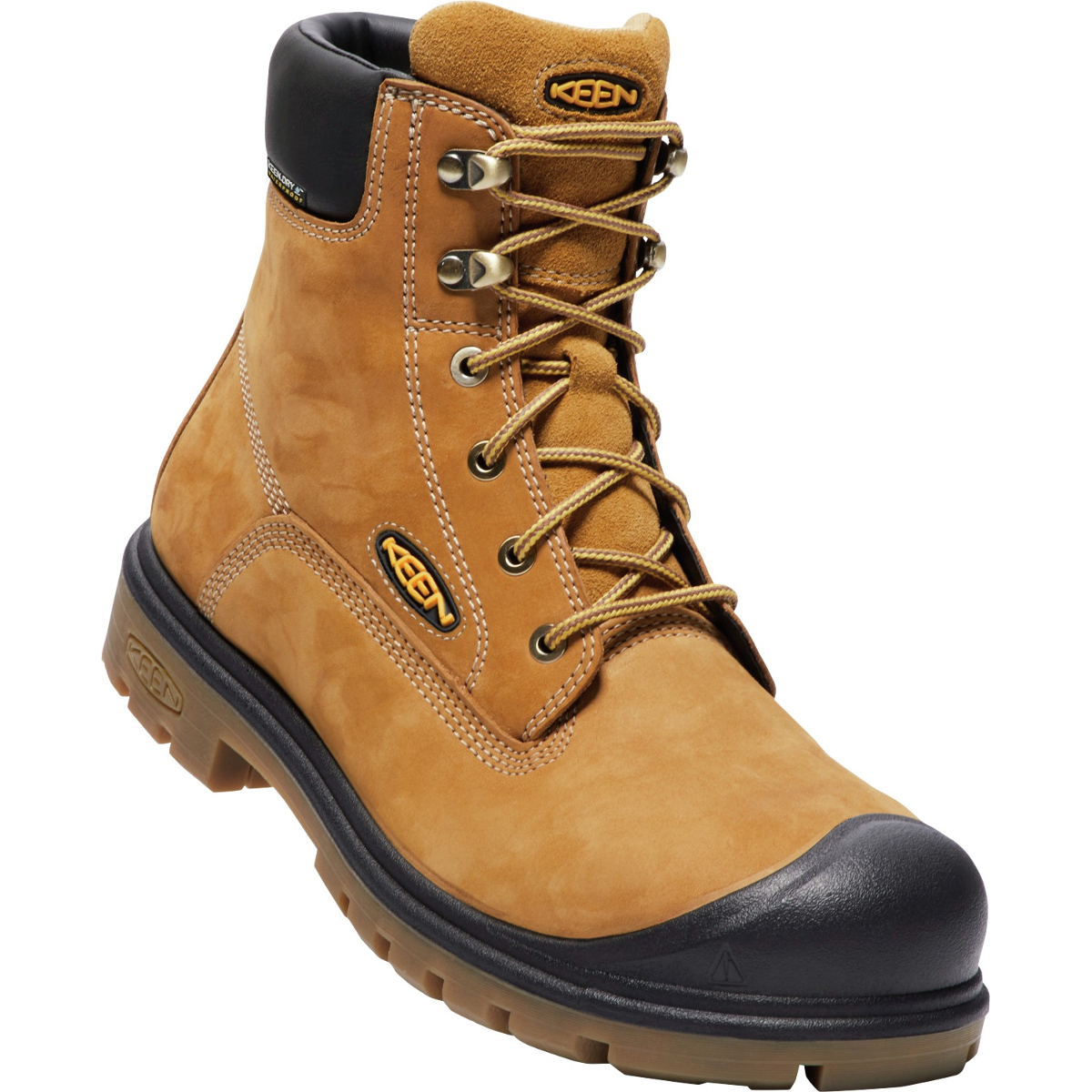 "Keen Men's Baltimore 6"" Waterproof Soft Toe Boot - Brown, 12"