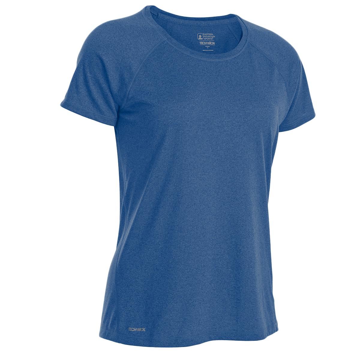 Ems Women's Techwick Essence Crew Short-Sleeve Shirt - Blue, XL