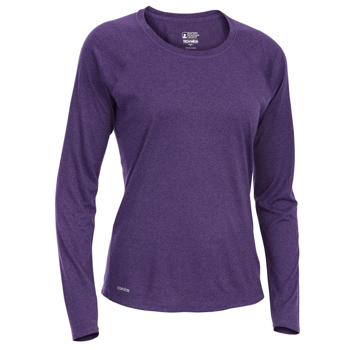 Ems Women's Techwick Essence Crew Long-Sleeve Shirt - Purple, L