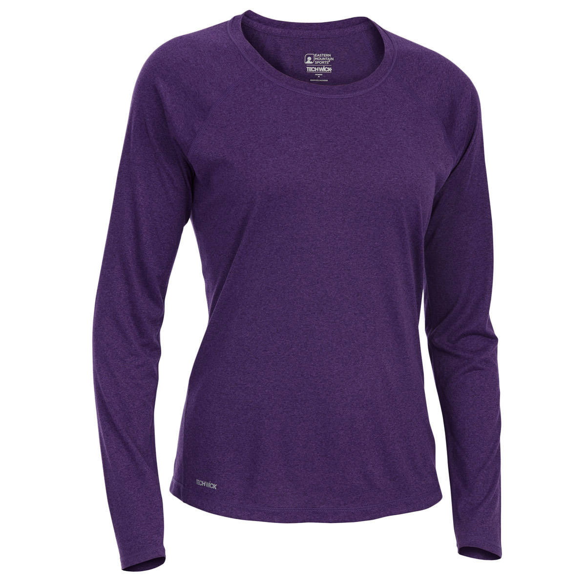 Ems Women's Techwick Essence Crew Long-Sleeve Shirt - Purple, XL