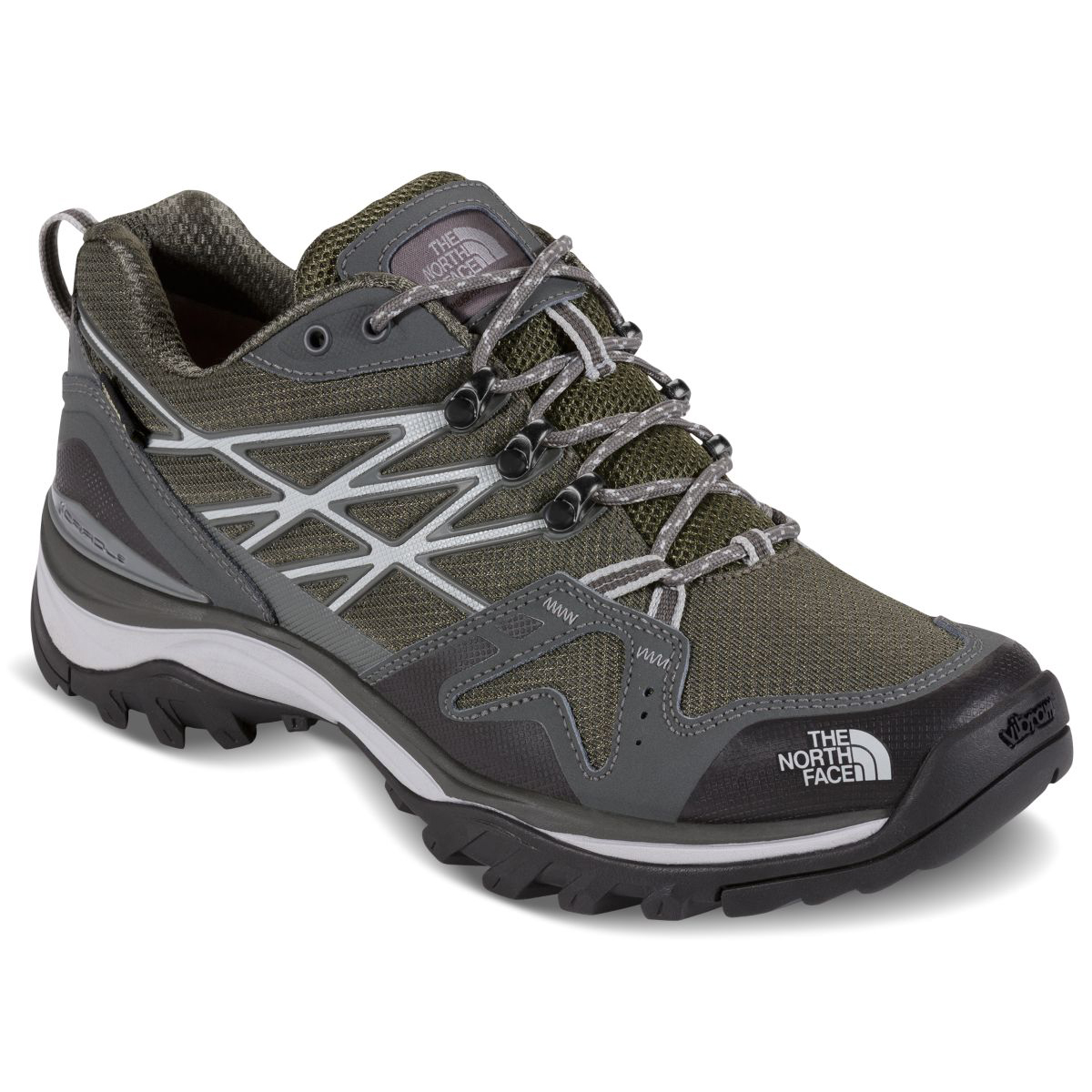 The North Face Men's Hedgehog Fastpack Gore-Tex Waterproof Low Hiking Shoes, Wide - Green, 11.5