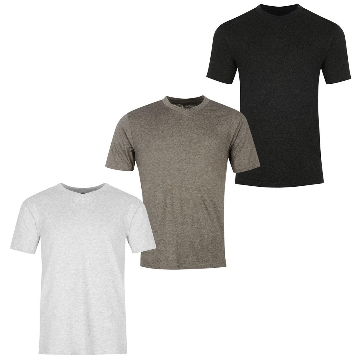 Donnay Men's V-Neck Short-Sleeve Tees, 3-Pack - Black, 3XL