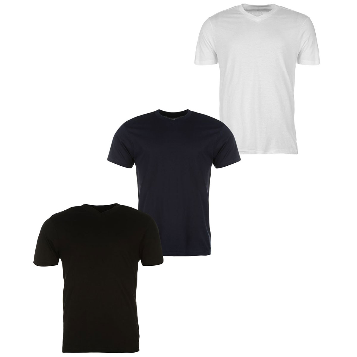 Donnay Men's V-Neck Short-Sleeve Tees, 3-Pack - Various Patterns, XS