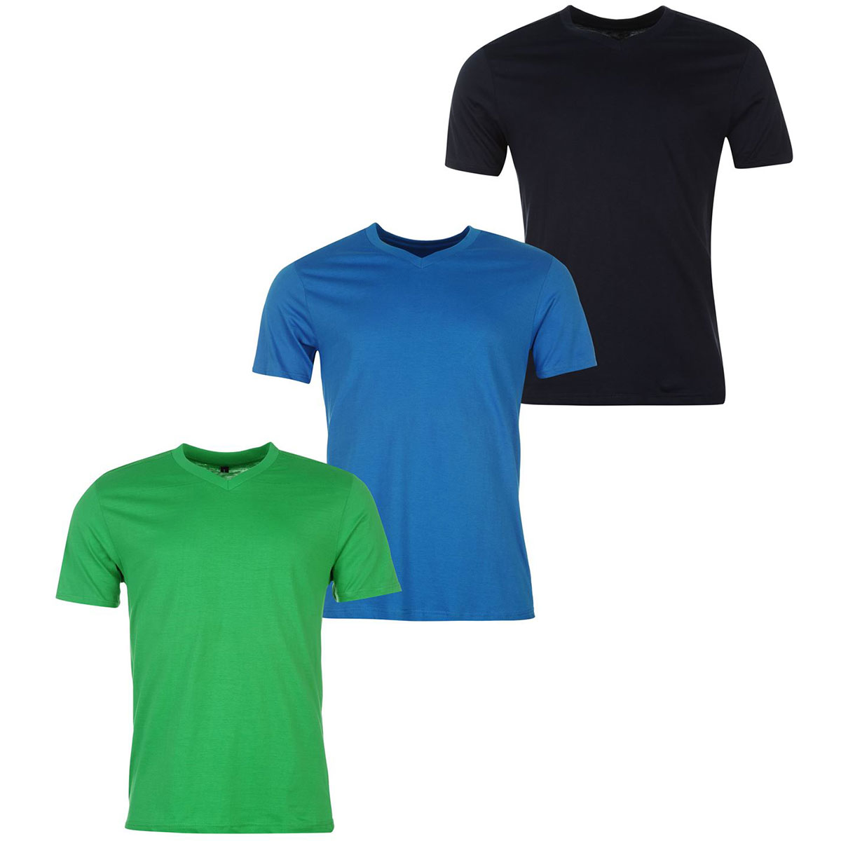 Donnay Men's V-Neck Short-Sleeve Tees, 3-Pack - Various Patterns, S