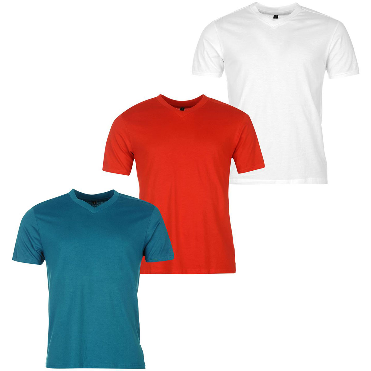Donnay Men's V-Neck Short-Sleeve Tees, 3-Pack - Various Patterns, 4XL