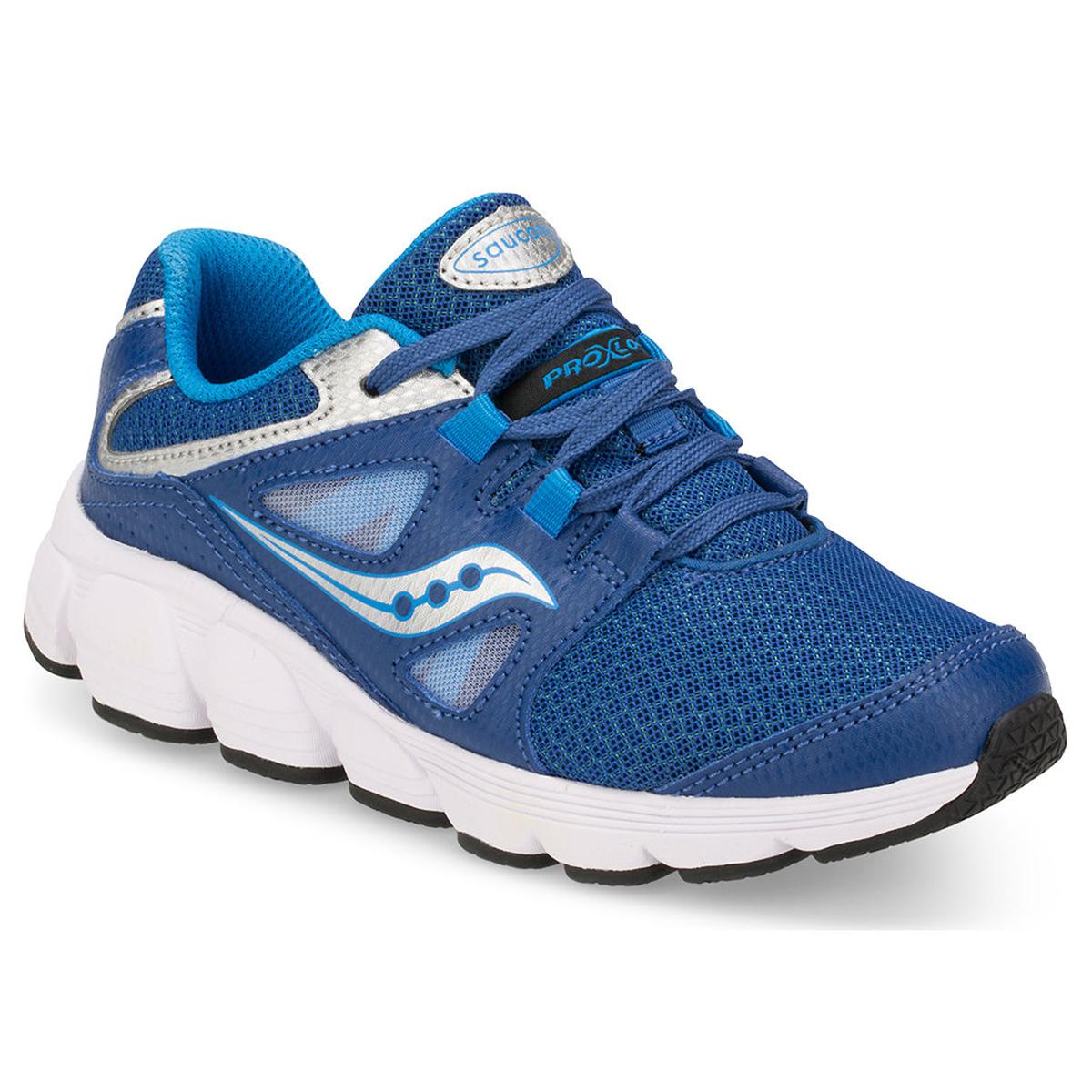 Saucony Big Boys' Kotaro 4 Running Shoes, Wide - Blue, 6