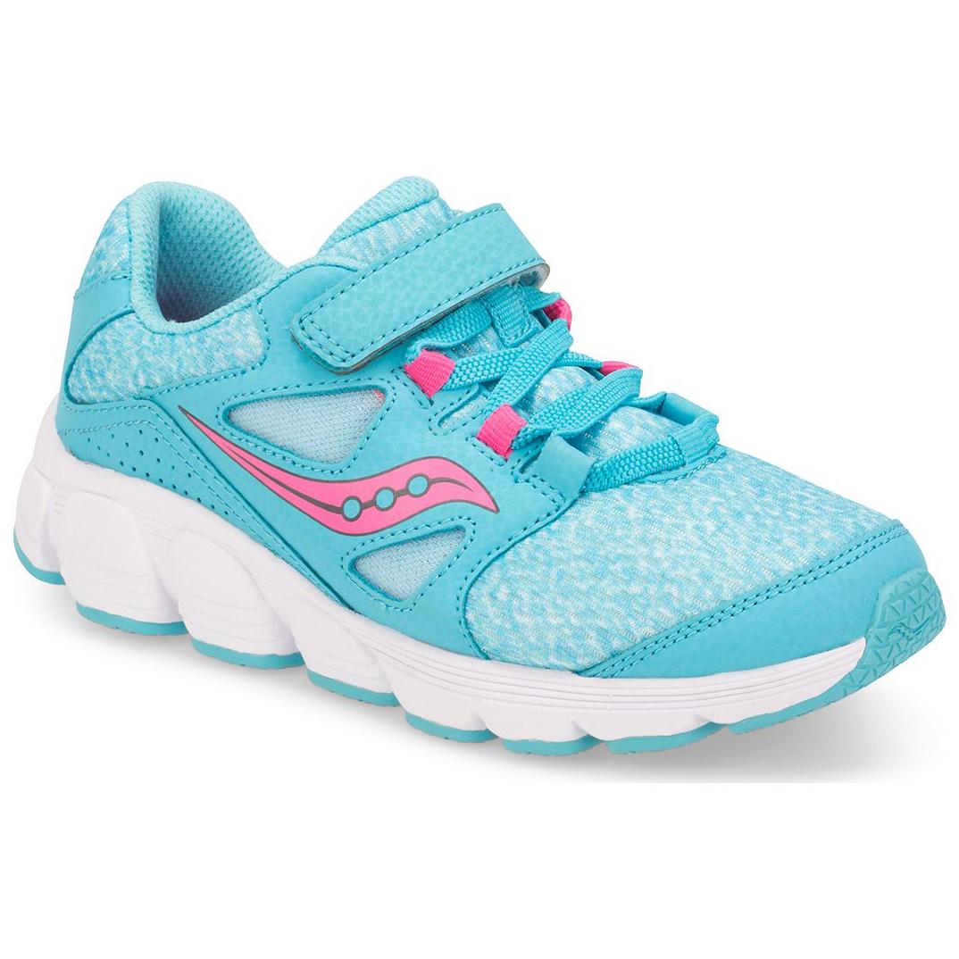 Saucony Little Girls' Preschool Kotaro 4 A/c Running Shoes - Blue, 2.5