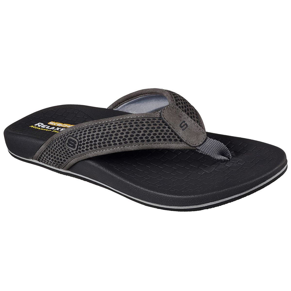 Skechers Men's Relaxed Fit: Pelem- Emiro Sandals - Black, 9