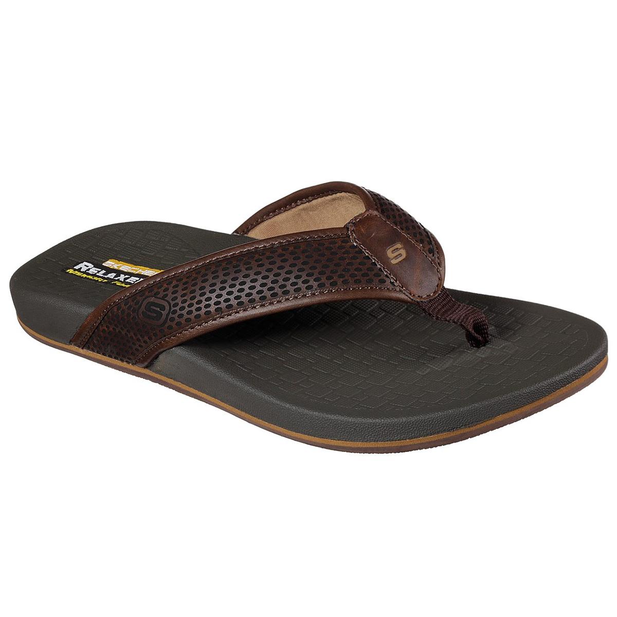 Skechers Men's Relaxed Fit: Pelem- Emiro Sandals - Brown, 11