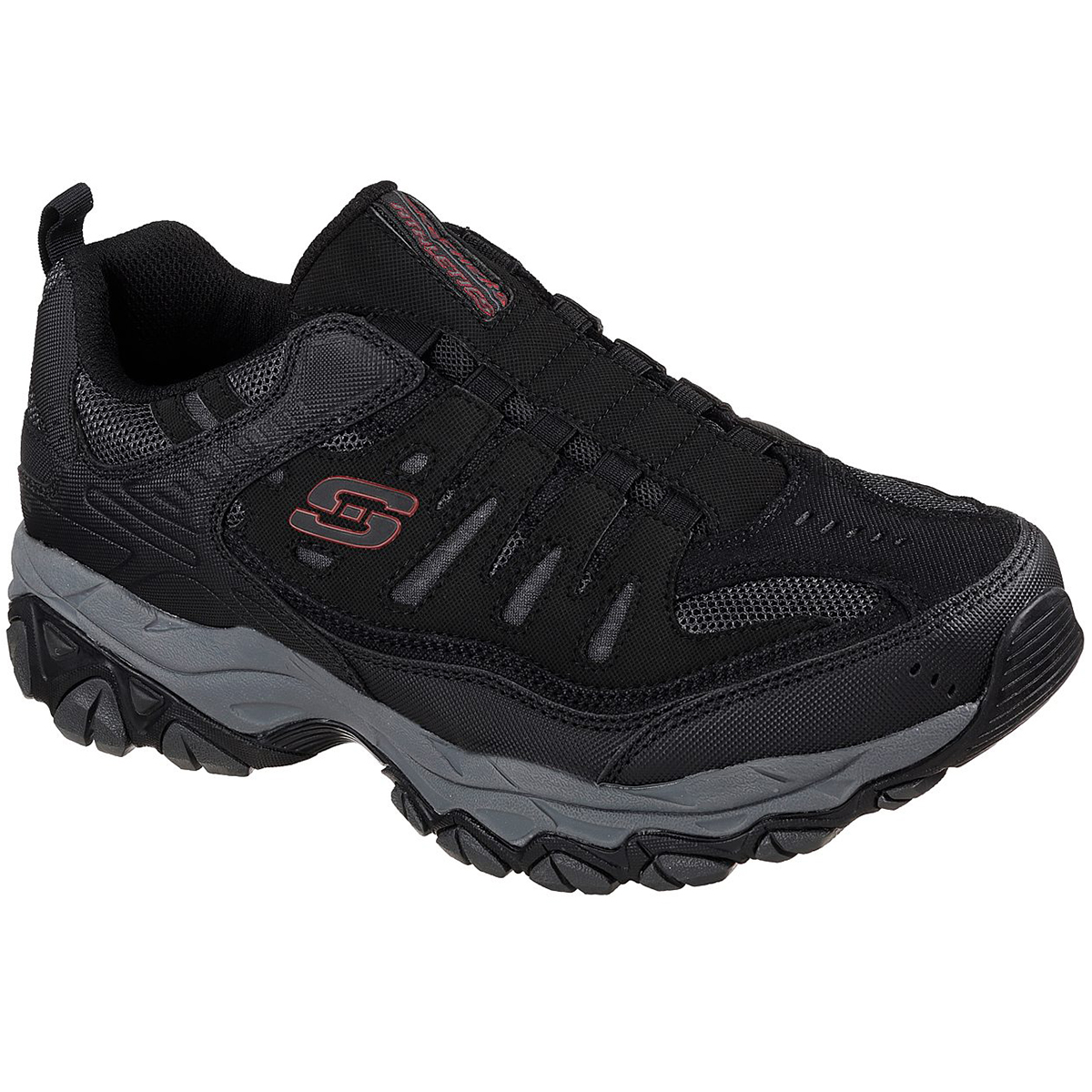 Skechers Men's After Burn-M. Fit Sneakers, Wide - Black, 9.5