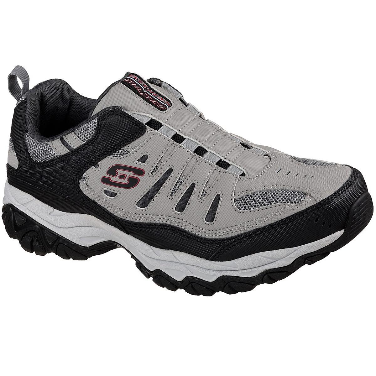 Skechers Men's After Burn-M. Fit Sneakers, Wide - Black, 9