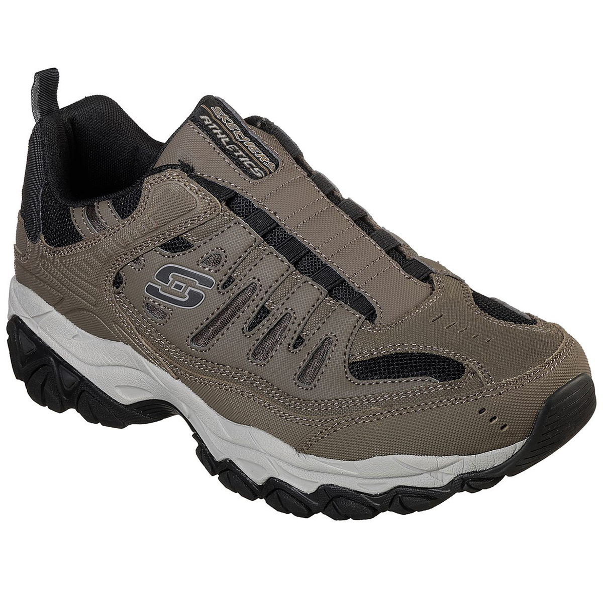 Skechers Men's After Burn-M. Fit Sneakers, Wide - Brown, 9