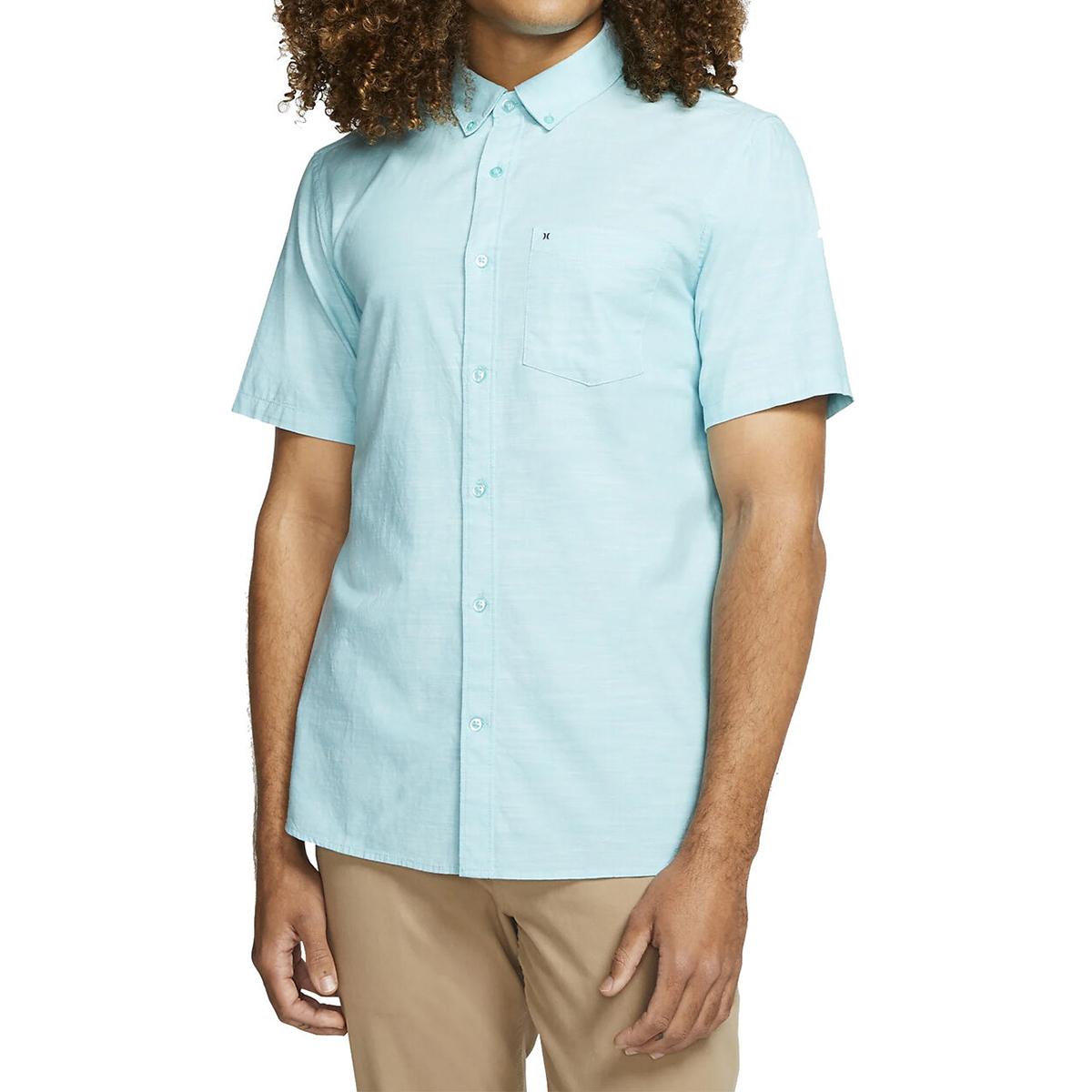 Hurley Men's One & Only Short-Sleeve Shirt - Green, M