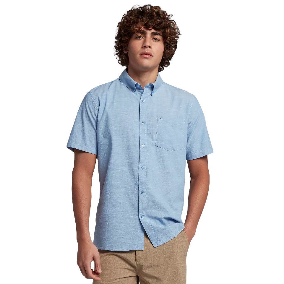 Hurley Men's One & Only Short-Sleeve Shirt - Blue, XL